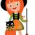 cute · vector · meisje · heks · kostuum · bezem - stockfoto © urchenkojulia