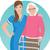老人ホーム · ベクトル · eps · 女性 · ホーム · にログイン - ストックフォト © urchenkojulia