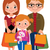 Cartoon · родителей · детей · дети · семьи · группа - Сток-фото © urchenkojulia