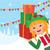 エルフ · クリスマス · 贈り物 · 実例 · 幸せ - ストックフォト © urchenkojulia