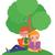 Kid · девушки · читать · книга · подушка · иллюстрация - Сток-фото © urchenkojulia