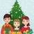 緑 · エルフ · クリスマス · 現在 · かわいい · 笑みを浮かべて - ストックフォト © urchenkojulia