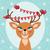 birds and christmas reindeer stock photo © urchenkojulia