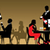 Silhouettes of people sitting at tables in a restaurant or night stock photo © UrchenkoJulia