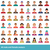 large set of vector avatars various male and female in a flat st stock photo © urchenkojulia