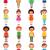 gyerekek · különböző · vektor · boldog · mosolyog · kaukázusi - stock fotó © urchenkojulia