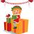 pequeno · natal · bonitinho · voador · céu - foto stock © urchenkojulia