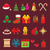 set of icons and symbols of christmas accessories stock photo © urchenkojulia