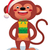 monkey with gifts new year stock photo © urchenkojulia