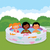 group of children in an inflatable pool stock photo © urchenkojulia