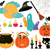 set of magical symbols of halloween stock photo © urchenkojulia