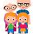 nagyszülők · unokák · poszter · család · emberek · jó - stock fotó © urchenkojulia