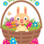 easter bunny in a basket with eggs stock photo © urchenkojulia