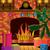 Navidad · chimenea · habitación · noche · fuego · interior - foto stock © UrchenkoJulia