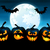 halloween · buli · tökök · hold · fű · hát - stock fotó © user_10003441