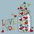 brilhante · vetor · corações · dia · dos · namorados · ilustração · amor - foto stock © user_10003441