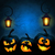 vector · halloween · partij · pompoenen · maan · eps - stockfoto © user_10003441
