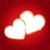 dos · corazones · etiqueta · rojo · blanco - foto stock © user_10003441
