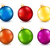 set of color christmas balls stock photo © user_10003441
