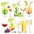 álcool · bebidas · vetor · coleção · cocktails · praia - foto stock © user_10003441