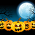 halloween pumpkins in the full moon stock photo © user_10003441