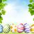 cartão · páscoa · belo · ovos · árvore - foto stock © user_10003441