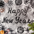 new year background with snowflakes and text happy new year draw stock photo © user_11056481