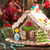 christmas gingerbread house and holiday decorations on old woode stock photo © user_11056481