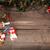 karácsony · öreg · fából · készült · girland · dekoráció · harang - stock fotó © user_11056481