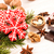 Christmas gingerbread red cookies, walnuts and chocolate.  stock photo © user_11056481