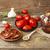 gedroogd · tomaten · keukentafel · natuur · Rood · plaat - stockfoto © user_11056481
