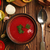 Bowl of  tomato soup gazpacho on wooden table. Gazpacho stock photo © user_11056481