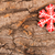 Christmas New Year holiday background. Red gingerbread cookie on stock photo © user_11056481