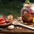 preparazione · essiccati · pomodori · greggio · vecchio · tavolo · in · legno - foto d'archivio © user_11056481