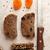 スライス · ライ麦 · パン · 白 · 木板 · 酵母 - ストックフォト © user_11056481