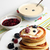 pancakes with berry jam and sour cream stock photo © user_11056481