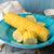gotowany · kukurydza · posiekane · ucha · niebieski · tablicy - zdjęcia stock © user_11056481