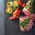 блюдо · Сальса · ложку · продовольствие · нефть - Сток-фото © user_11224430