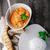 caril · de · frango · estilo · tomates · comida · laranja · restaurante - foto stock © user_11224430