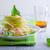 édeskömény · alma · saláta · friss · fehér · tányér - stock fotó © user_11224430
