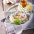 茄子 · ディップ · 地中海料理 · 木製 · 表面 · 葉 - ストックフォト © user_11224430
