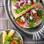 鶏 · タコス · ソフト · 辛い · チキンサラダ · サワークリーム - ストックフォト © user_11224430