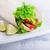 kip · sandwich · tuin · salade · sla - stockfoto © user_11224430