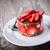 morango · creme · branco · prato · comida - foto stock © user_11224430
