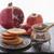honing · granaatappel · appels · oude · houten · voedsel - stockfoto © user_11224430