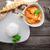 caril · de · frango · arroz · servido · superfície - foto stock © user_11224430