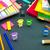 pequeno · origami · ajuda · trabalhar · secretária · negócio - foto stock © user_9323633
