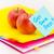 könyv · boglya · gyümölcsök · izolált · fehér · papír - stock fotó © user_9323633