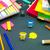 pequeno · origami · ajuda · trabalhar · secretária · escritório - foto stock © user_9323633