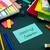 mensagem · trabalhando · secretária · reunião · amanhã · escritório - foto stock © user_9323633